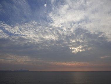 今日の雲&夕日 ?