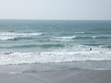 上がったころには白波が近くなってます。