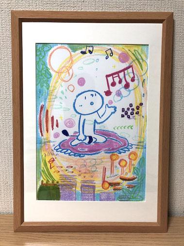 年上の人 茶谷順子 原画販売作品 可愛いイラスト 手描きイラスト ゲルマーカー