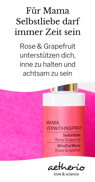 Für mehr #Mamachtsamkeit sorgt dieses herrliche bio Spray mit #Rose und Grapefruit. Mamas dürfen auch an sich denken, mit kleinen achtsamen Duftpausen gelingt das leichter und entspannter. Mit love & science von aetherio.de #mamacare #achtsamkeit #mama