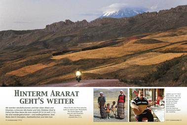Der 5137 Meter hohen Ararat – Ağrı, der Schmerzensreiche - wacht über alle Wege (oben). Mit Kind und Kegel – Familie am Ararat (Ostanatolien). Hilmi Şahballi – türkischer Barde aus Kahramanmaraş (Boğazkale, Anatolien).
