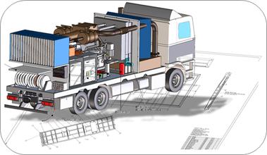 Mobile Notstromanlage als LKW Aufbau 750kVA