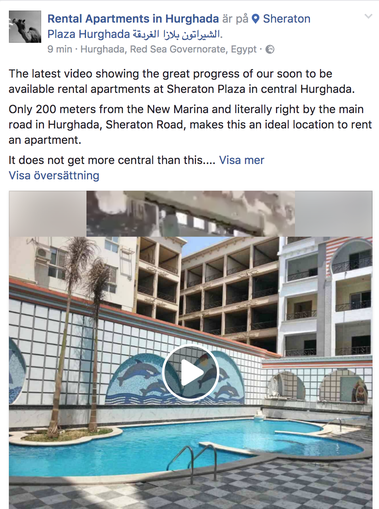 Video Update Sept 2017 - www.apartmentsinhurghada.com - Sheraton Plaza Hurghada - Rental Apartments Hurghada