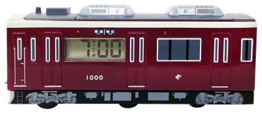 動クロック 電車型 側面