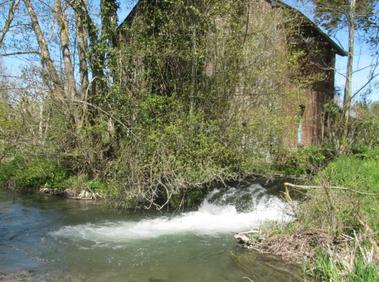 La chute du moulin Nicolle avant les travaux