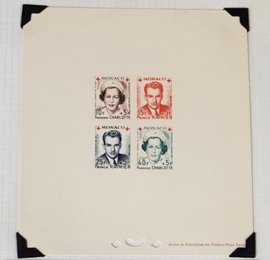 Épreuve de luxe de timbres Croix Rouge de Monaco (lot 6)