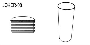 JOKER-08 Заглушка трубы, плоская, хром