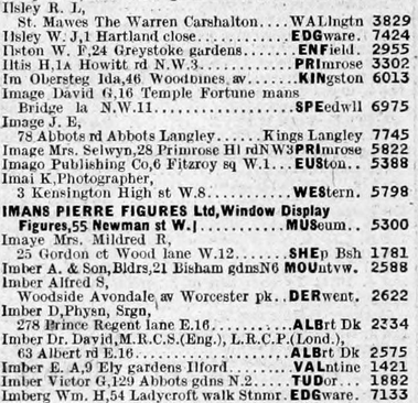 1943 _ London Surnames A - K _ page 1074