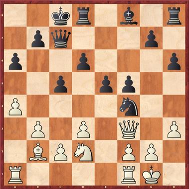 Polten - Roth: Erwin zog hier 17. ... Dc6 ? wonach Weiß die Damen tauschen konnte und das gröbste überstanden hatte. Viel besser war 17. ... g5! mit starkem Angriff (z.B. 18.Sc4 h5, nebst g4 und Öffnung der Linien gegen den weißen König)