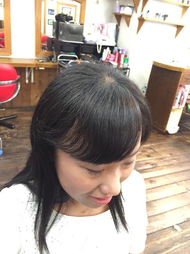 横浜の無責任美容師☆奥条勇紀☆前髪の縮毛矯正は絶対にツンツンさせない・自然な仕上がりになる事が条件