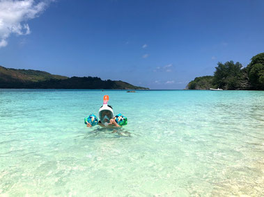 Easybreath Junior a Curieuse Island, Praslin