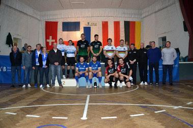 Siegerehrung beim MVB-Preis in Hechtsheim, Sportart Radball, Rauch, Stenner