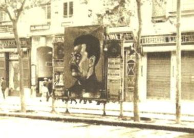 Stalin plakat på Ramblas i Barcelona 1937