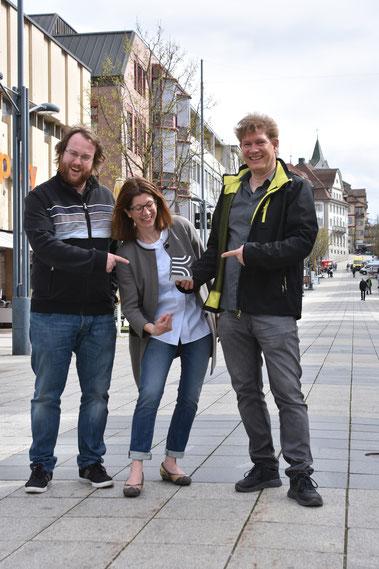 Gemeinsam voller Einsatz für die KULTURBÜHNE 2018: Michael Sarbach, OK-Präsident; Kathrin Dörig, Kulturbeauftrage der Stadt Wil und Pascal Mettler, Projektleiter (von links).