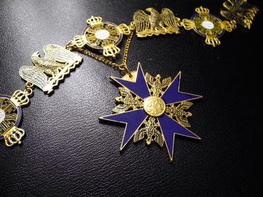 Preußen Schwarzer Adlerorden Ordenskette Kollane Replik