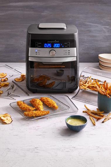 Air Fryer Deluxe von Pampered Chef®, Heißluftfriteuse, Onlineshop, Anleitung, Air fryer Rezepte
