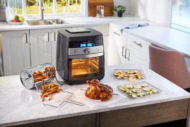Air fryer von Pampered Chef®, Heißluftfriteuse, Kleiner Backofen, Rezepte, Single Haushalt