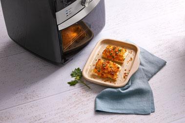 Deluxe Air Fryer von Pampered Chef®, Heißluftfriteuse Rezepte, Zauberküche mit Herz, Mini Ofenzauberer