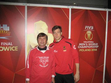 Mannschaftrskapitän Jochen Schöps (rechts) und Manfred Wille