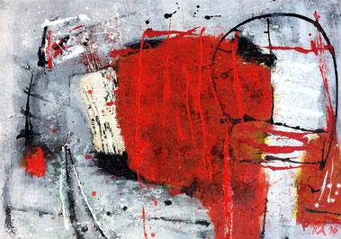 WVZ 007/2016 / scheinbar Unruhe / Format 70 x 50 cm / Acryl auf Leinwand gerahmt