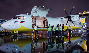 Cebu Pacific's first ATR 72-500 freighter  -  company courtesy