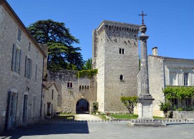 Donjon du château fort d'Eymet Dordogne Nouvelle-Aquitaine