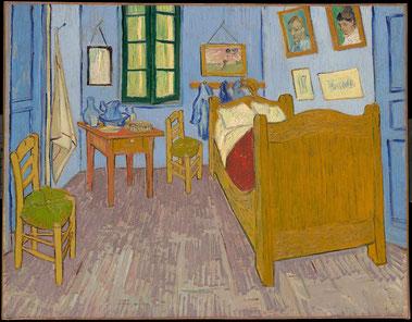 La 3ème version de La Chambre visible au Musée d'Orsay à Paris.