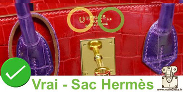 There are a number of symbols on the front of the bag accompanying the marking.   Type of exotic leather , crocodile, alligator, lizard hermes
