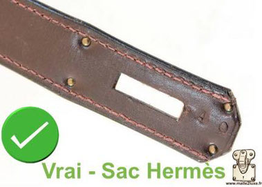Vintage strap:   On old models, there was no seam at the end of the strap. trunk hermes bag