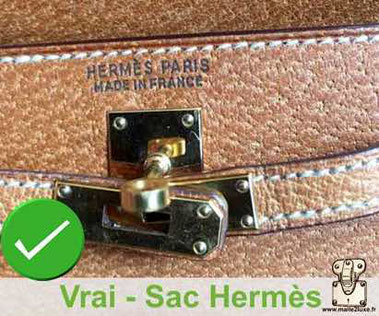 Two-line marking    HERMES -  PARIS MADE IN FRANCE   On some Hermès bags from the 1980s