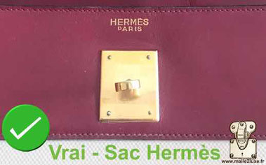 Two-line  marking   HERMES PARIS   On certain Hermès bags from the end of 1968