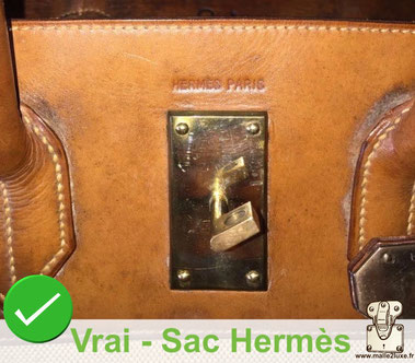 Marking on  a line  HERMES PARIS   On certain Hermès bags between 1949 and 1970