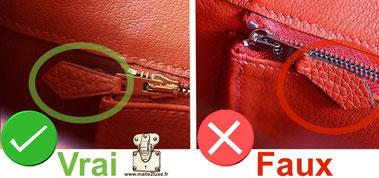 reconnaitre tirette de zip hermes authentique secret de fabrication by malle de luxe