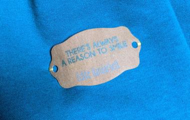 """Hier das Label auf meinem Pullikleid nach dem Schnittmuster """"Billund"""" von Pech & Schwefel"""