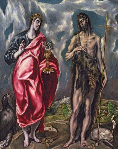 Святые Иоанн Богослов и Иоанн Креститель - Эль Греко
