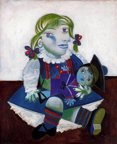 Майя с куклой - Пабло Пикассо