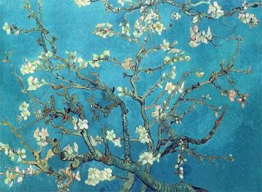 Цветущие ветки миндаля - Винсент Ван Гог