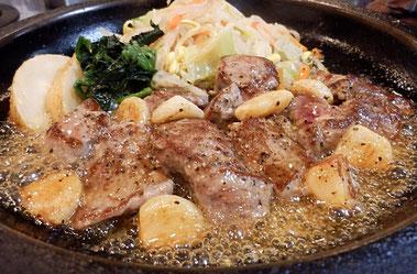 牛の家,池袋,牛肉,ステーキ,まるごとニンニクステーキ