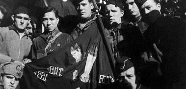 Anarchistische Milizen übernehmen 1936 die Macht in Katalonien.