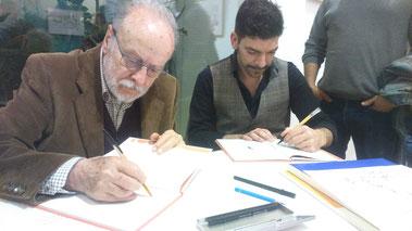 Carbó i Rodríguez signant