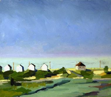 Kate Kern Mundie, North 6 Haze, oil on panel
