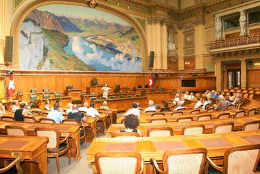 Führung im Nationalratssaal. Juli 2014
