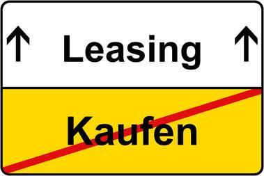 Kopierer Leasing - Drucker leasing Vorteile gegenüber Kaufen - Strassenschild