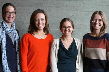 v.l.: Dr.rer.pol.Janina Curbach, Dr.phil.Julia von Sommoggy, Dr.med.Susanne Brandstetter und Maja Pawellek M.Sc. (Foto: Theresa Riedhammer)