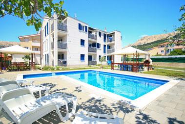 Апартаменты люкс с бассейном в Башка Хорватия