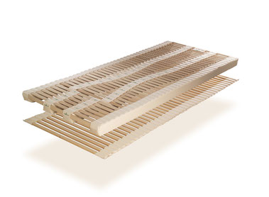 ProNatura Schlafsystem NOVAflex sensibel mit Rollrahmen und Naturholzergomellen