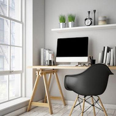 télétravail espace de travail - espace dédié télétravail - amenager un espace télétravail - espace de télétravail - l'espace de travail - l'espace de travail idéal - créer un espace de travail - comment créer son espace de travail chez soi