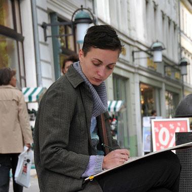 Weimarer Künstlerin in der Schillerstrasse