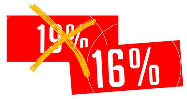 Reduzierung der Mehrwertsteuer von 19 auf 16%