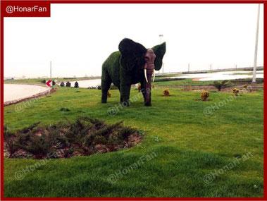 ساخت مجسمه چمنی تندیس کشاورز به ارتفاع 3 متر ، مجسمه کشاورز ، آتش نشان ، پلیس ، مجسمه سازی مجسمه چمنی
